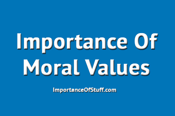 Important values in life essay
