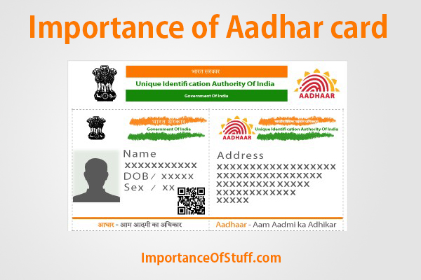 importance of aadhar card