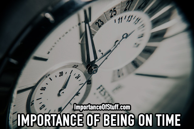 importance of being on time