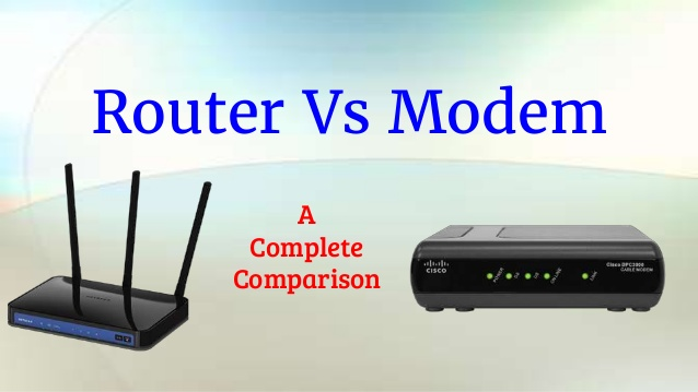 difference between router and a modem.